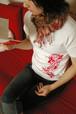 手描Tシャツ「個性の華」