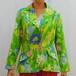 S~Lサイズ【アメリカ製古着】1960年代ヴィンテージ◆グリーンにピンクのお花◆サマージャケット