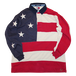 """90s Tommy Hilfiger"" Vintage USA Flag Rugby Shirt Used"