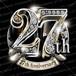 27周年PSD素材 エンブレム仕様。豪華でキラキラPhotoshop素材で周年を彩ろう!
