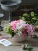 バラとダリアのオーバルアレンジメント/パステルピンク/プリザーブドフラワー/お誕生日祝い/バースデーギフト/送別の贈り物/記念日【即日発送】【お届け日指定可能】