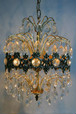 40-50's 8Lights Crystal Chandelier
