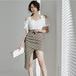 【dress】好感度UPファッションセクシー肩出し着瘦せ切り替えデートワンピース
