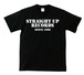 STRAIGHT UP RECORDS OFFICIAL T-SHIRT : 1(黒ボディー)