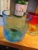日本製『沖縄工芸村 琉球ロックグラス ブルー』