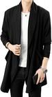 Ayistelu ロングカーディガン メンズ ニットジャケット 羽織 長袖 上着 キレイメ カジュアル スタイリッシュ コート 秋 冬 大人 シンプル メンズ