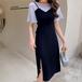 【dress】おしゃれ!ファッション切り替えデートワンピース着心地よい M-0343