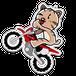 <アクリルキーホルダーL>バイクみーちゃん