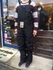 Green Clothing  Bib Pants  Black/D.Purple Lサイズ