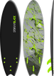 Storm Blade 6ft6 Swallow Tail Surfboard / Black x Silver Marble