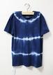 藍染め半袖 綿Tシャツ ユニセックス L(AHT-12)