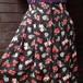 Flower pattern front button skirt フロントボタン花柄スカート