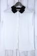 ブラック×ホワイトノースリーブシャツ