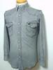 1980's Wrangler デニムウエスタンシャツ USA製 グレー 表記(S) 希少サイズ ラングラー