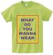 WEAR Tシャツ(ライムグリーン)