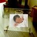 アクリルフォトフレーム 「BABYフレーム」ヨコ置きタイプ 出産祝い,出産内祝い,百日記念,ベビーメモリアル