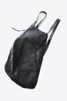 女性アーティストがハンドメイドで作り出す【Ytn №7】Unisex Asymmetric Leather Backpack  077Y - Black