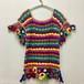 happy crochet knit top