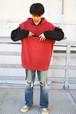 Eddie Bauer Sweat Hoodie Vest (Red)
