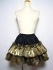 フリル2段スカート(ゴールド)