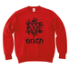 ERICH / HEXAGRAM LOGO CREWNECK SWEAT RED