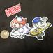 JAWA&MISO2枚セット【ウタイストステッカー】