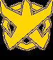BADFALLロゴステッカー 黄10