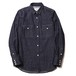 RUDE GALLERY BLACK REBEL ROAD JACK DENIM SHIRT <ONE WASHED, RENEWAL>