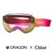 限定 DRAGON × Chloe コラボ レディース スノーゴーグル x2s Cassidy Goggles CHLOE DESIGN 12 ドラゴン × クロエ キャシディ ゴーグル スキー スノーボード スペアレンズ付き