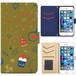 Jenny Desse iphone 6/6S plus ケース 手帳型 カバー スタンド機能 カードホルダー イエロー(ブルーバック)
