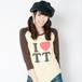 TT Raglan T-shirts(Brown × Yellow)