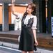 【dress】話題沸騰中 スウィートレース切り替え着痩せデートワンピース M-0145