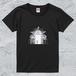 豪華すぎる非常口T*レディースブラック/面白デザイン【色鉛筆アートTシャツ】
