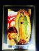 メキシコ マリア☆グアダルーペ ポスター/ はめ殺しメタルフレーム/ インテリア エスニック ボヘミアン(小)
