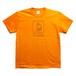 H.I.M tee  orange/ black