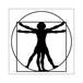 ステッカー ダ・ヴィンチ「ウィトルウィウス的人体図」