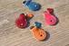 【名入れ無料!】手縫い牛ヌメ革・かわいい肉球キーホルダー