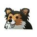 シェットランドシープドッグ(小)     犬ステッカー