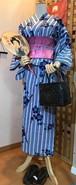【リサイクル】レトロな藍染風浴衣