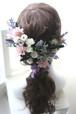 ヘッドドレス* wedding モーブピンク・ナチュラル hd1801