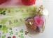 感謝の花言葉の薔薇のハートオルゴナイトペンダント