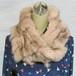 ¶ new antique fur ¶ ピンク染フォックスnejiriスヌード「mio」
