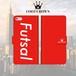 FOOT CROWN 限定 手帳型 スマホケース フットサル レッド [フットサル] [Futsal] iphone全機種対応