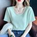 【tops】韓国系一目惚れ清新人気デザインラウンドネック3色Tシャツ着心地良い M-0252