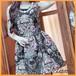 パーティードレス ノースリーブ ミニ丈 スリム 花柄 ワンピース ワンピドレス 発表会 お呼ばれ 20代 30代 40代 【お取り寄せ】