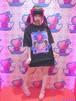 るんTシャツ(黒)Design by せななん