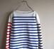 FRANCE製 [ORCIVAL] コットンバスクシャツ マルチカラーボーダー 表記(2) オーチバル オーシバル