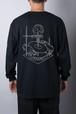 「Saki Souda」 Jikkenroom ロングTシャツ 黒