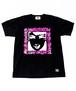 RAKUGAKI GIRL STENCIL T-Shirts Cabon Black