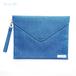【青色デニム】封筒型クラッチバッグ Lサイズ(ストラップ付)/PCケースにも♪